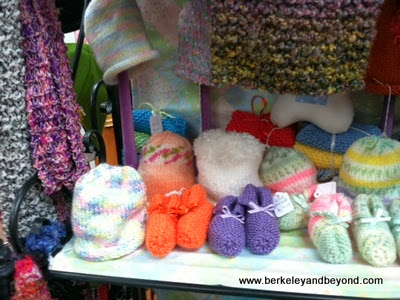 knitted baby items at Berry Patch gift shop in Pleasanton, CA