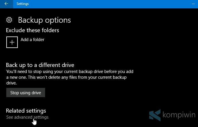 menghapus file agar tidak di-backup