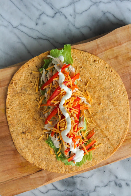 Chicken & Veggie Ranch Wrap | The Chef Next Door #EffortlessMeals