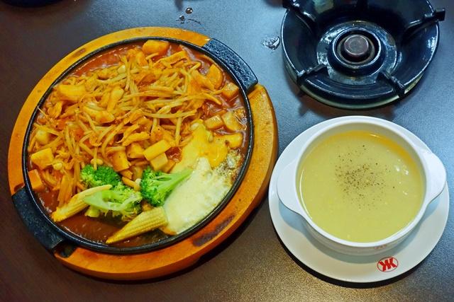 鐵板紅醬義大利麵濃湯