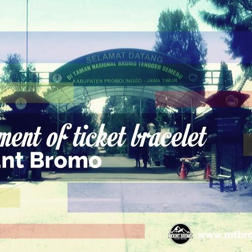 Enforcement of ticket bracelet on Mount Bromo