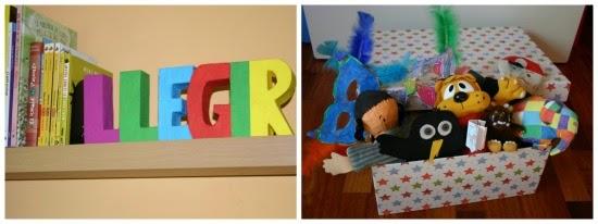 Detalles de nuestro rincón de lectura infantil
