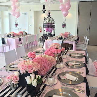 CoCo Chanel bridal shower centerpieces ideas