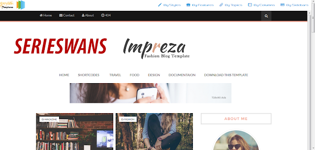 Download Template Impreza Blogger Responsive Terbaru