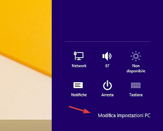 Modifica impostazioni PC Windows 8