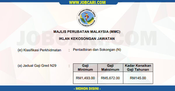 Jawatan Kosong di Majlis Perubatan Malaysia MMC