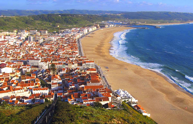 Nazare, vista do miradouro do Suberco