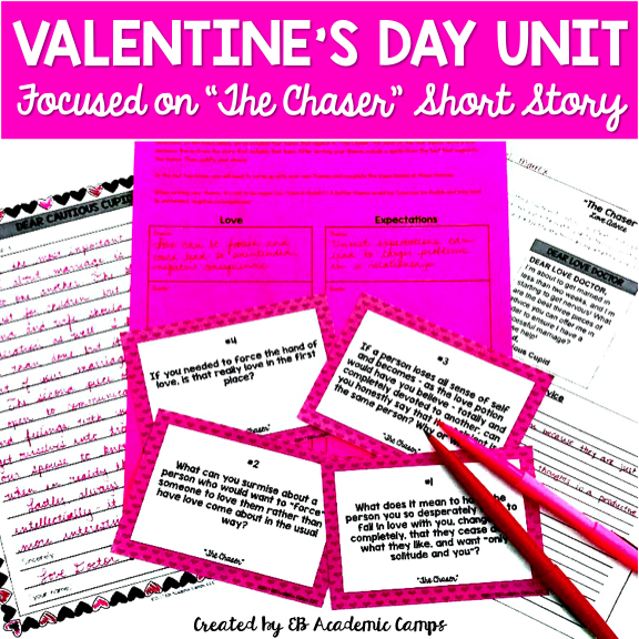 Fun and easy Valentine's Day Activity for your Middle School classroom! The perfect way to celebrate the holiday with your students!