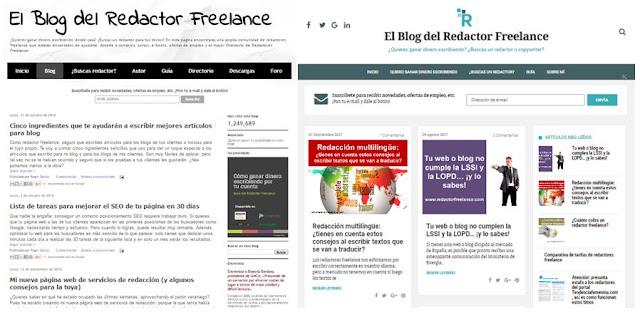 Nuevo diseño El Blog del Redactor Freelance