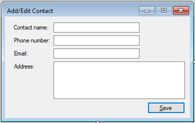 c# add contact