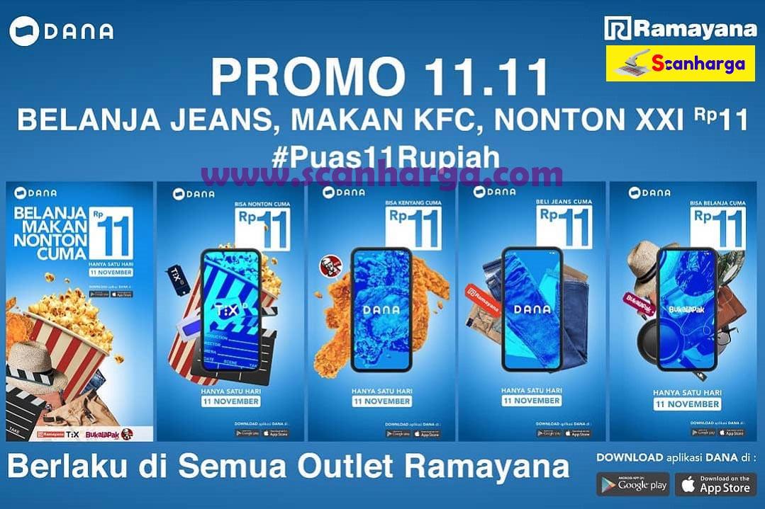 Promo 11.11 Belanja Jeans, Makan KFC, Nonton XXI Rp11 Periode 8 - 11 November 2019