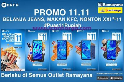 Ramayana Promo 11.11 Belanja Jeans, Makan KFC, Nonton XXI Rp11