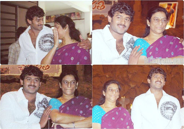 Prabhas with mother
