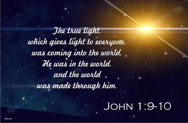 John 1:9-10 picture Bible verse