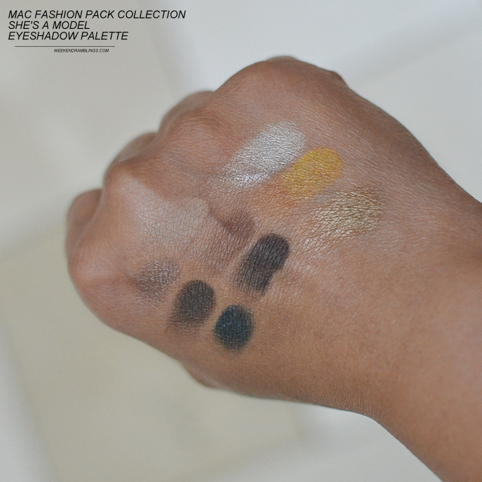 MAC Fashion Pack Collection Eyeshadow Palettes - Shes a Model Swatches
