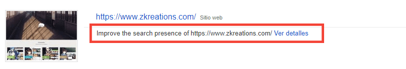 improve the search presence of