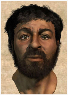 Picture of Jesus as recreated by forensic artist based on Semite skulls. Photo from http://www.evangelicalsforsocialaction.org/church/put-this-jesus-in-your-church/