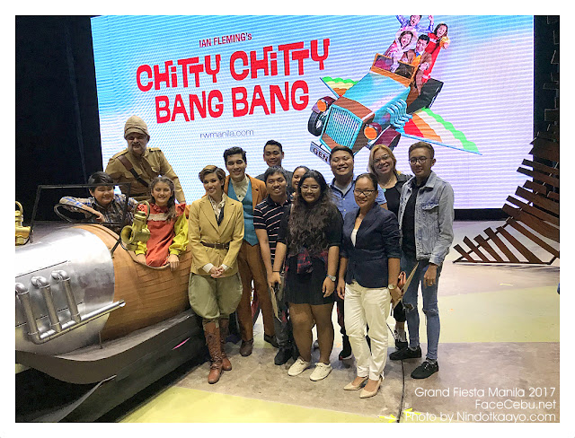 Chitty Chitty Bang Bang Main Casts with Cebu Media and Bloggers