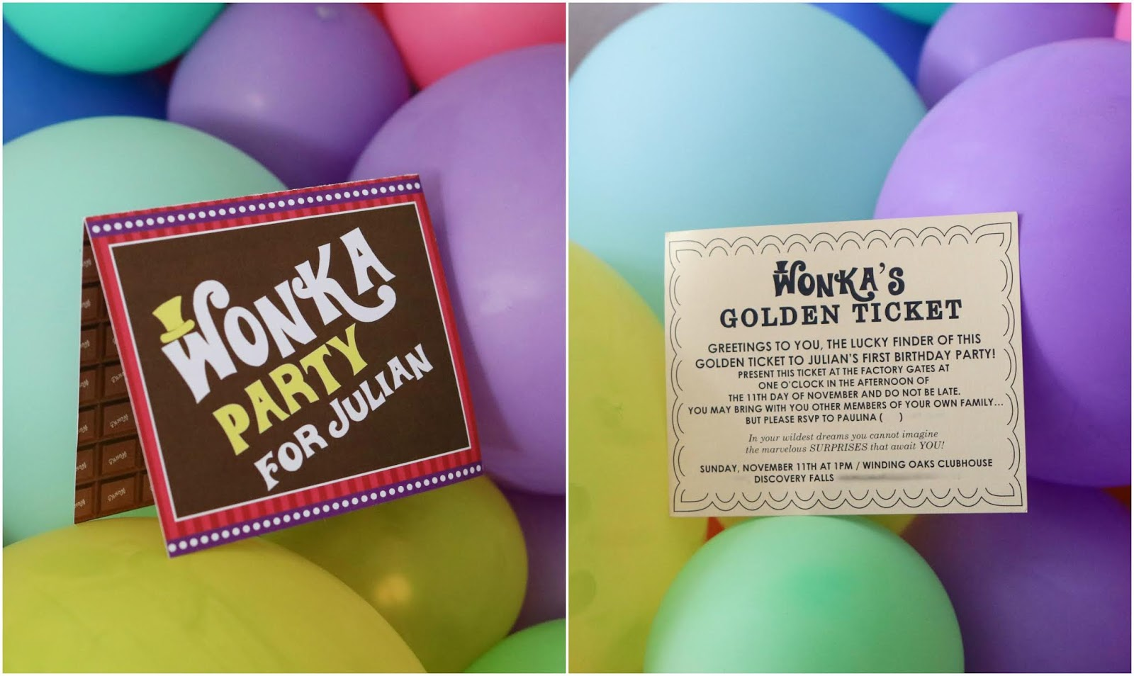 willy wonka party invitations