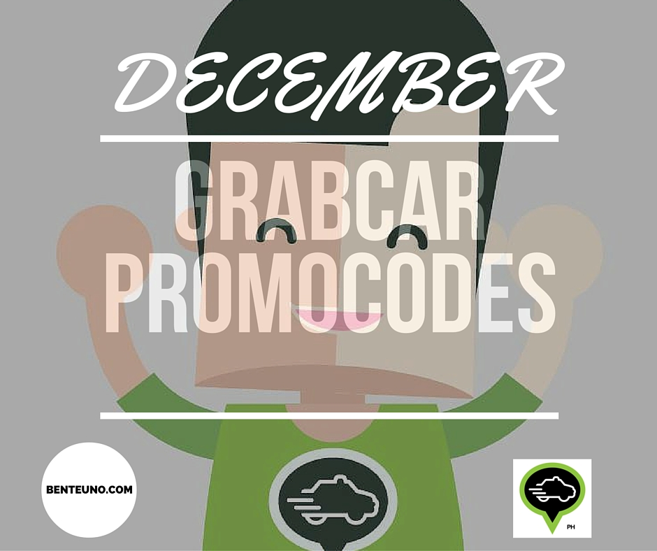 GrabCar Promo codes for December 2015 from GrabTaxiPH