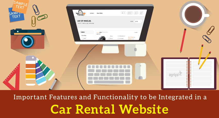 Car Rental Website Features