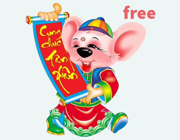 Vector con chuột vàng miễn phí 2020