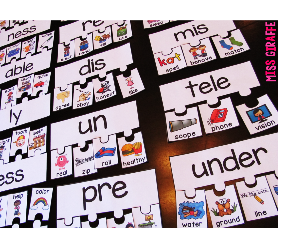 Dashing Prefixes And Suffixes Printable Games