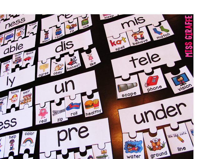 Prefixes and suffixes puzzles that are so much fun and a lot of other ideas for teaching prefixes and suffixes