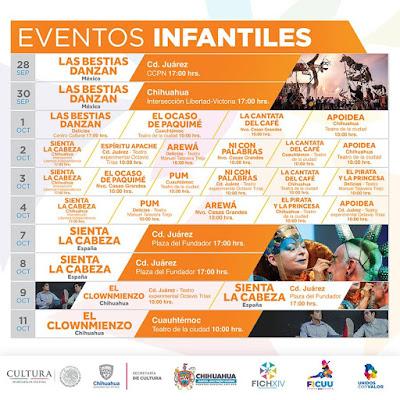 eventos infantiles FICH 2018