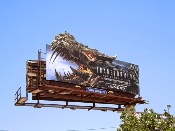 Grimlock Transformers Age of Extinction billboard