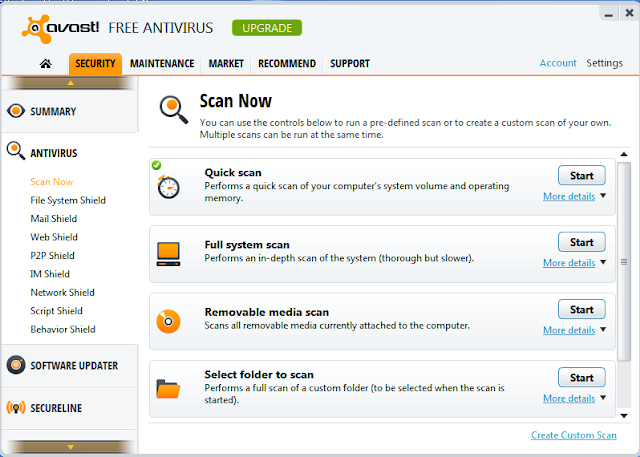 Free Antivirus Software with Low CPU Usage and System Memory Usage 1