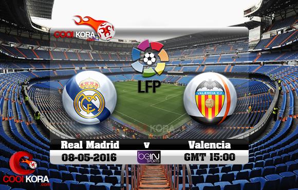 مشاهدة مباراة ريال مدريد وفالنسيا اليوم 8-5-2016 في الدوري الأسباني