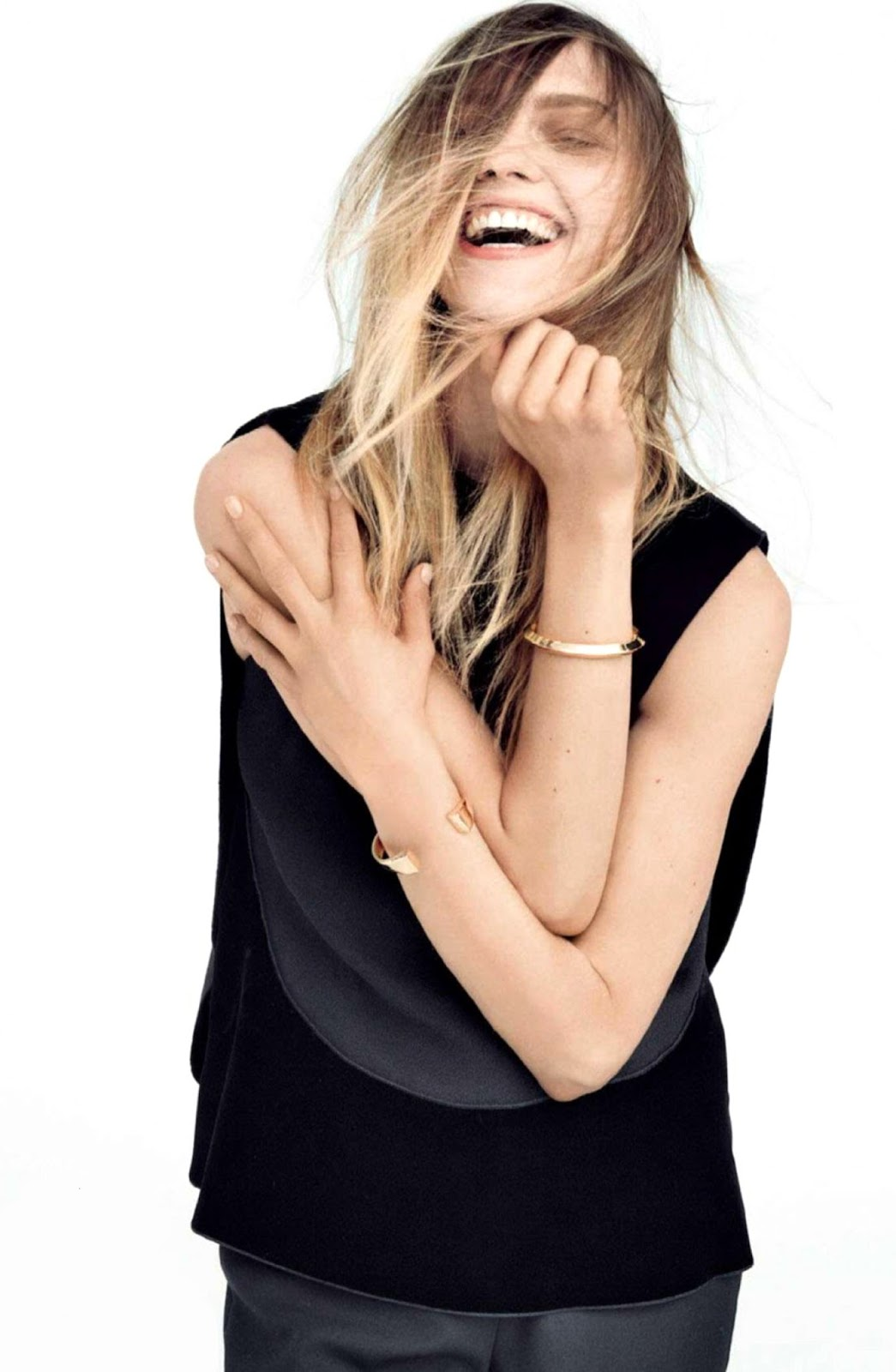 best of designer sales under £100 / Sasha Pivovarova in Vogue UK July 2014 (photography: Daniel Jackson, styling: Kate Phelan)
