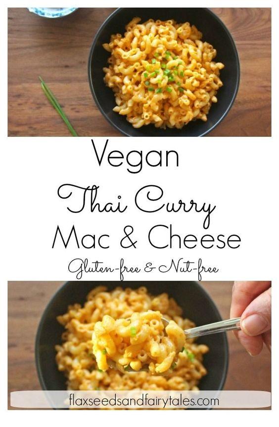 Vegan Thai Curry Mac and Cheese