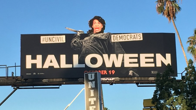 'Halloween' Billboard Hijacked to Target Maxine Waters