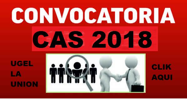 CONVOCATORIA  CAS 2018