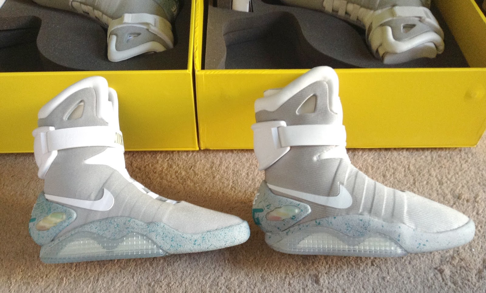 nike air mags. outer side of air mags nike mags