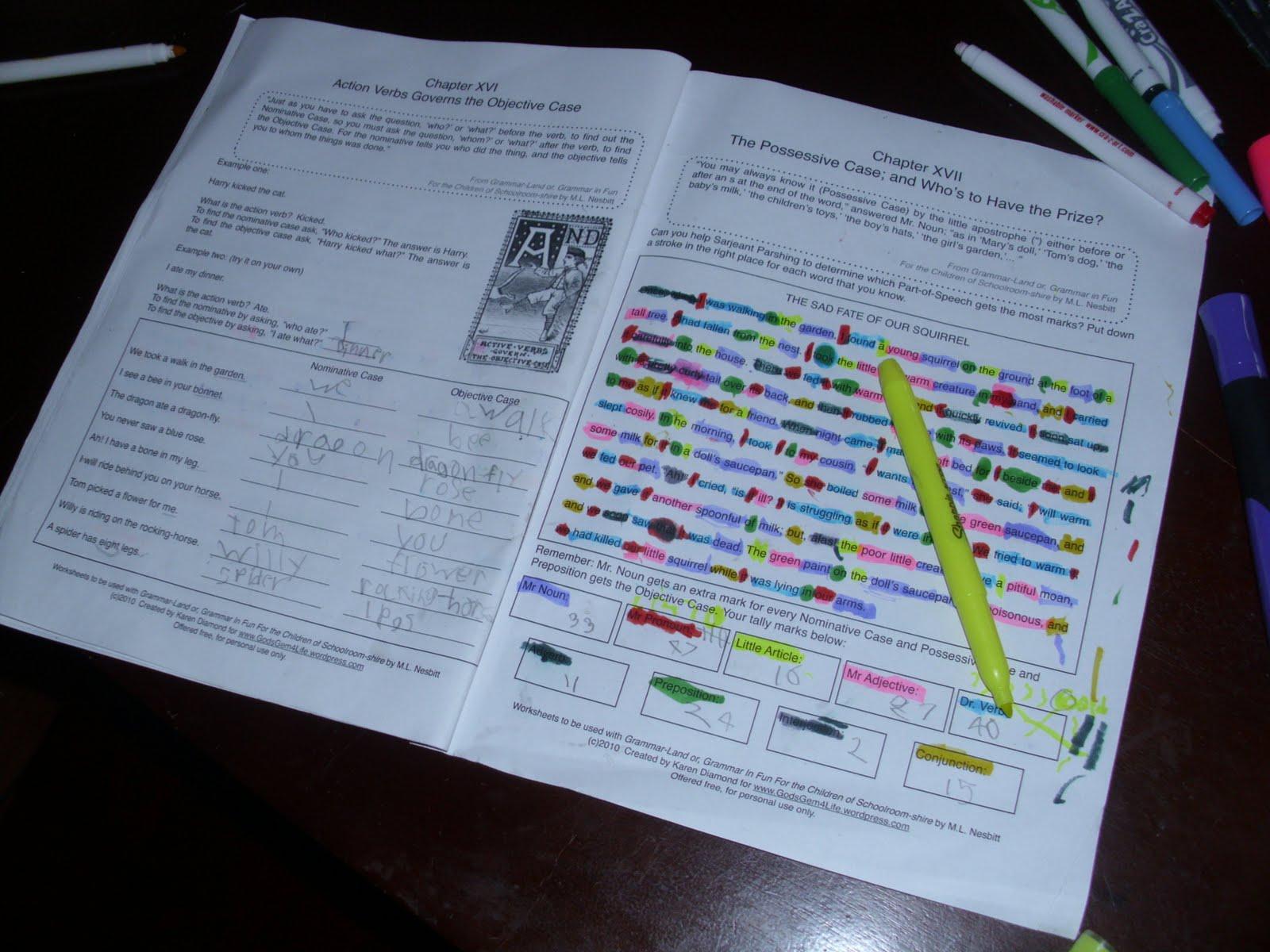 Free Grammarland Unit Study