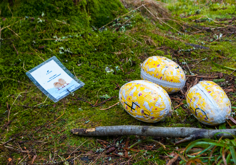 yellow and white painted dragon eggs in bergen norway