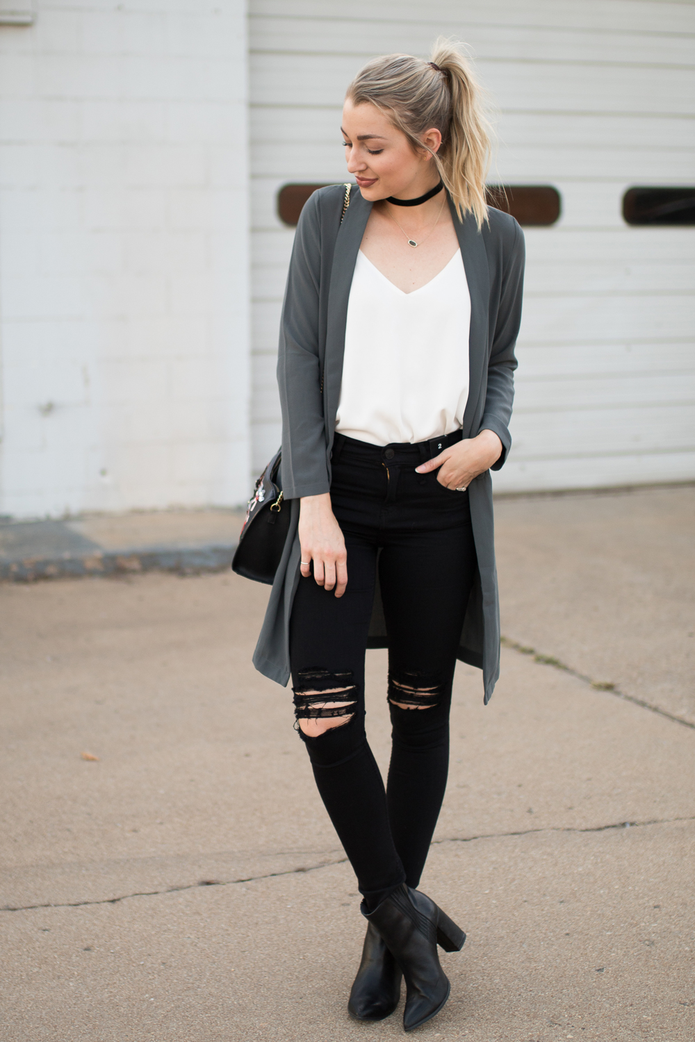 How to style a long blazer