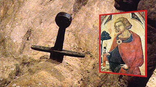 La espada legendaria en la Piedra de San Galgano