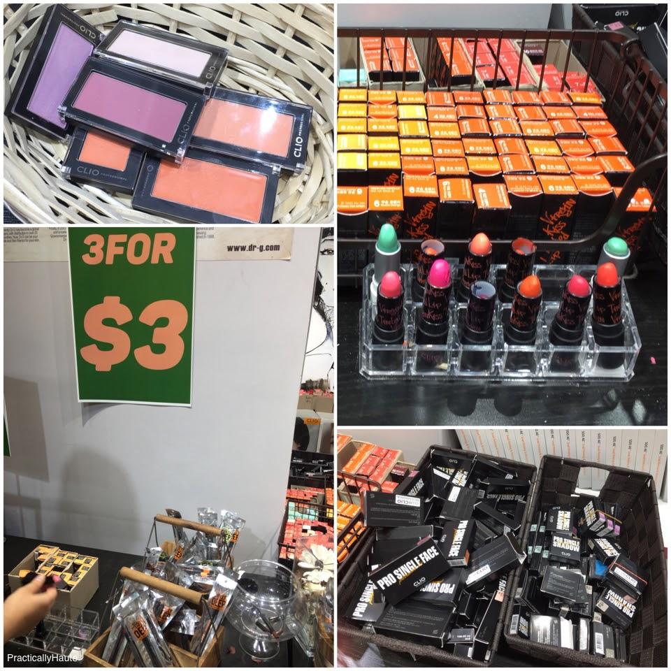 Club Clio sample sale makeup lipsticks