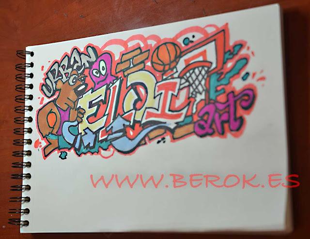 Graffiti con tu nombre en papel Eloi