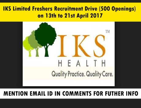 Iks limited freshers recruitment drive 500 openings on for 13th floor bangalore phone number