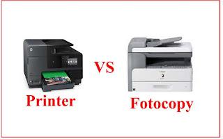 beda printer dan fotocopy