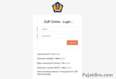 Masalah Pelaporan Pajak Online djponline.pajak.go.id