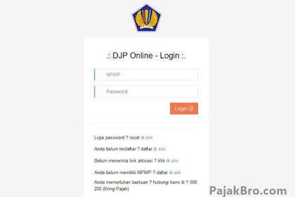 Masalah Error Pelaporan Pajak Online djponline.pajak.go.id