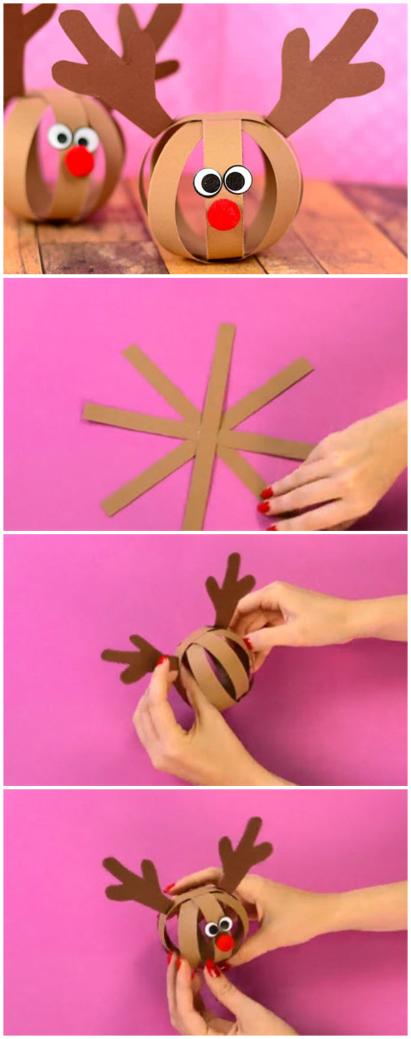 Paper Ball Reindeer Craft