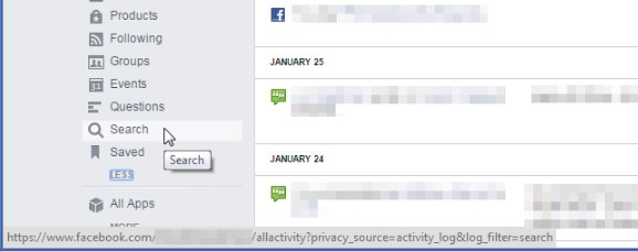 how to clear search history on facebook app