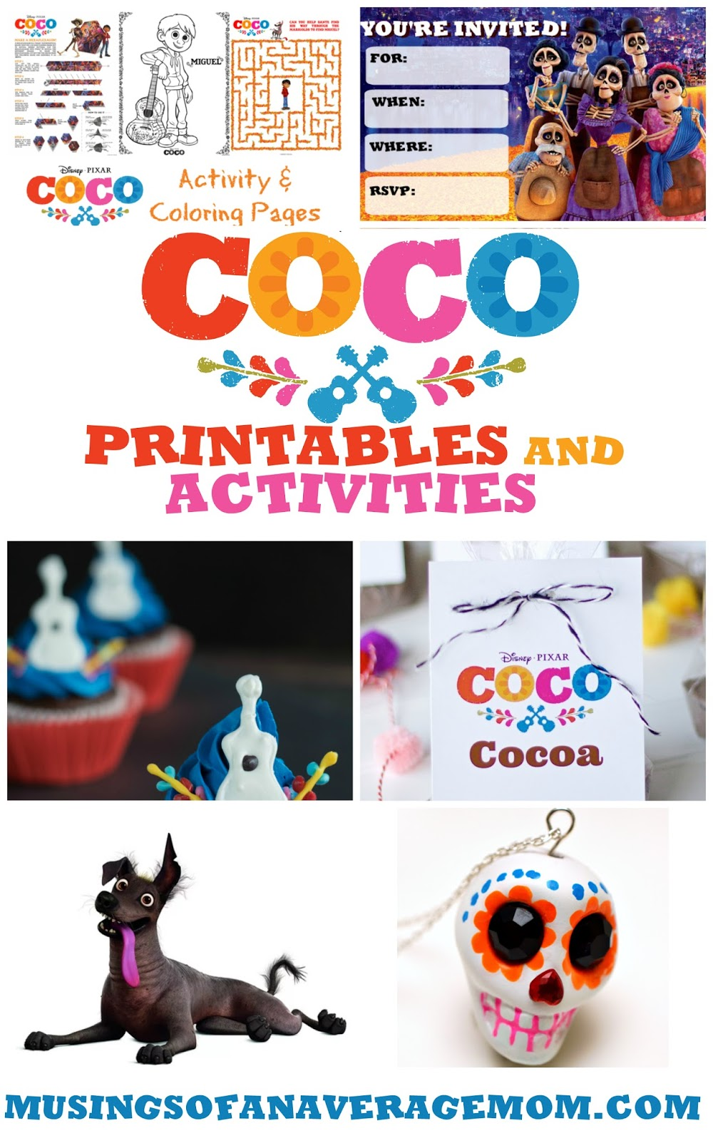 musings of an average mom coco printables and activities